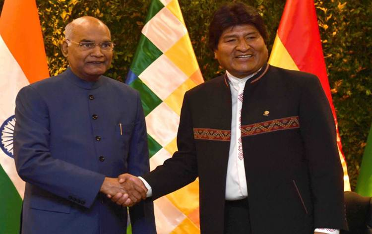 India & Bolivia sign 8 MoUs in various fields including culture, mining, space