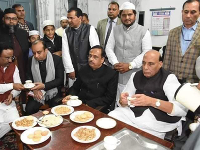 FACT CHECK: Rajnath Singh visited madrassa to secure votes?