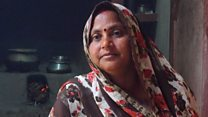 India Gas scheme poster woman forced to cook with cow dung