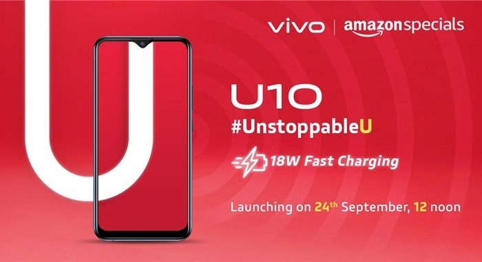 VIVO U10, New Series Smartphone Coming To India On September 24