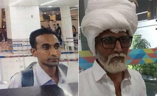 A 32-year-old Indian man dyed his hair white, used a wheelchair, and pretended to be 81 so he could fly to the US on a fake passport, police say