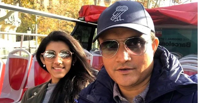Sourav Ganguly's daughter Sana's banter on photo of daddy is cuteness overloaded; See Pic