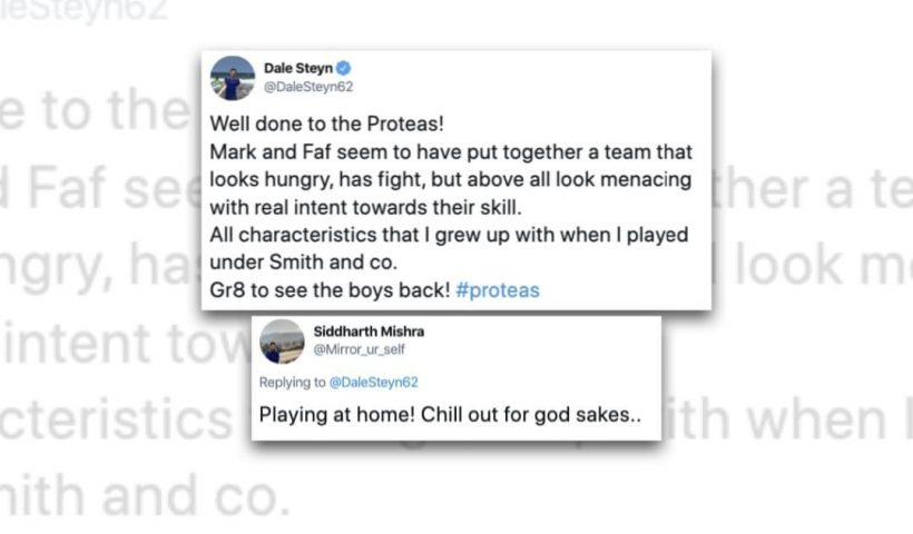 Dale Steyn criticises Indian fan for mocking South Africa's win vs England