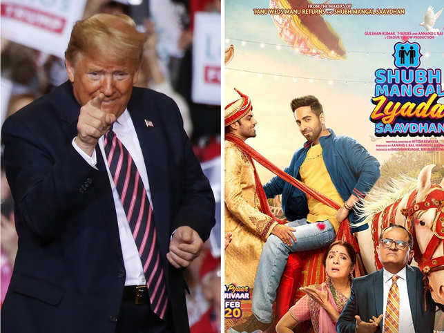 Ahead of India visit, Trump all praise for Ayushmann Khurrana's gay rom-com 'Shubh Mangal Zyada Saavdhan'