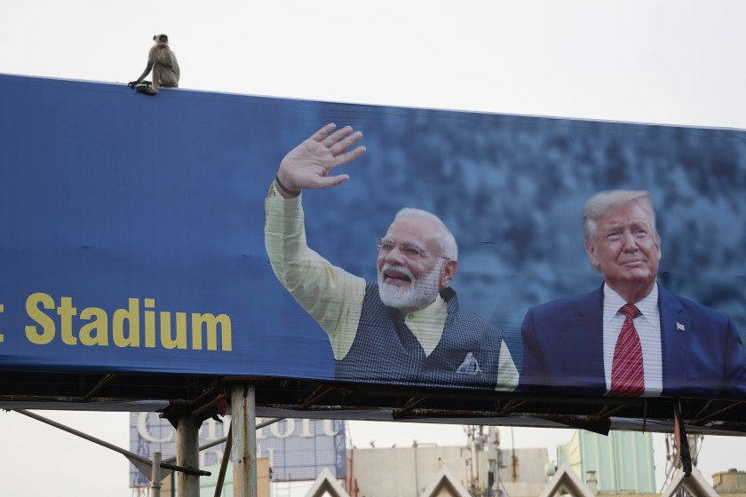 Trump heads to India for a giant rally, but little else
